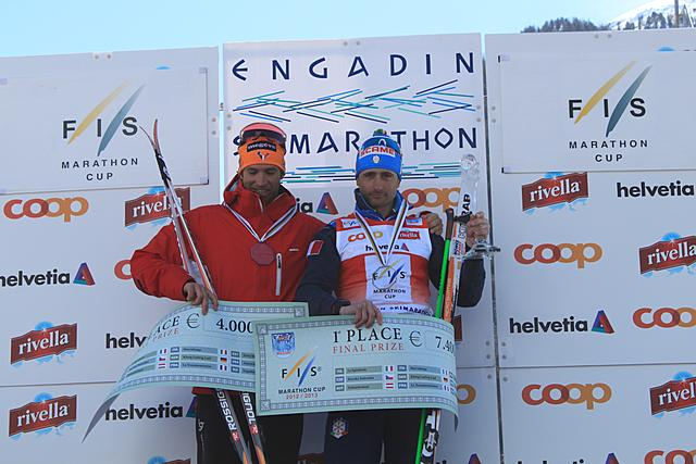 Sergio Bonaldi (ITA) wins the overall FIS Marathon Cup 2012/13. Benoit Chauvet (FRA) 2nd and Anders Aukland (NOR) 3rd.