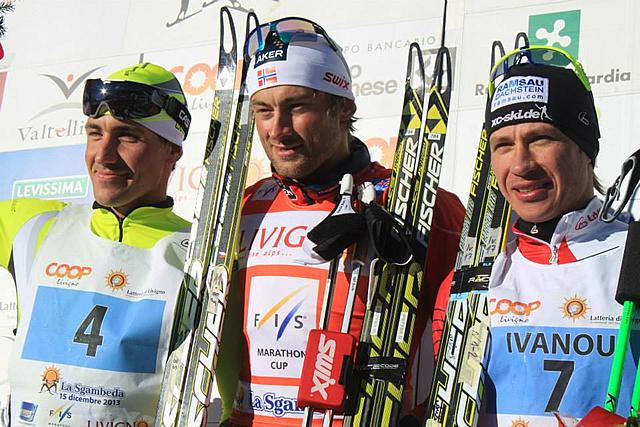 Northug (NOR) & Roponen (FIN) winner of the 1st FIS Marathon Cup 2013/14