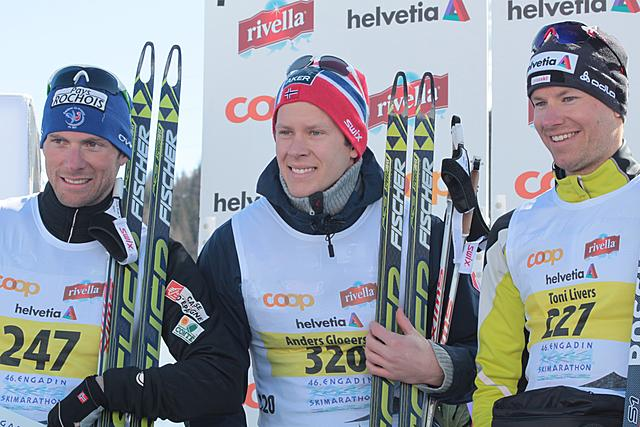 Gloersen (NOR) winner of the 46th Engadin Skimarathon!