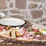 A typical snack in Trentino