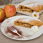 Apple-strudel as dessert